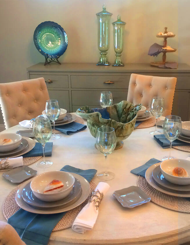 Plantation Muirfield Model Table Setting